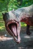 Άγαλμα δεινοσαύρων Allosaurus Στοκ Εικόνα