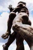 άγαλμα δύο χαλκού παλαισ Στοκ Φωτογραφία
