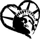 άγαλμα ελευθερίας καρδιών Στοκ Εικόνες