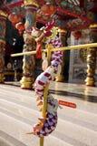 Άγαλμα θεών Θεών και διακόσμηση του κινεζικού ναού PU Ya SAN Chao ή μεγάλος - η λάρνακα προγόνων παππούδων και γιαγιάδων στοκ εικόνες με δικαίωμα ελεύθερης χρήσης