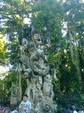Άγαλμα Θεών πιθήκων Στοκ Φωτογραφία