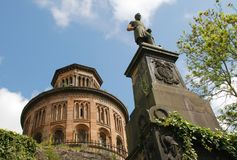 Άγαλμα και μαυσωλείο νεκρόπολη της Γλασκώβης στοκ φωτογραφία