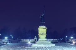 Άγαλμα και πλατεία του Stefan στο κεντρικό πάρκο Στοκ εικόνες με δικαίωμα ελεύθερης χρήσης