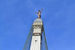 Άγαλμα κύκλων μνημείων στην Ινδιανάπολη, ΜΕΣΑ Στοκ εικόνα με δικαίωμα ελεύθερης χρήσης