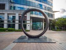 Άγαλμα κύκλων της λεωφόρου Coex την 1η Σεπτεμβρίου 2017 στο Gangnam Distric Στοκ Εικόνες