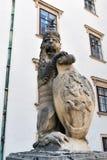 Άγαλμα λιονταριών στη Royal Palace Hofburg στη Βιέννη australites Στοκ Εικόνες