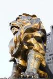 Άγαλμα λιονταριών στο μεγάλο ξενοδοχείο χαρτοπαικτικών λεσχών του Λας Βέγκας MGM στο Las Vegas Strip Στοκ φωτογραφία με δικαίωμα ελεύθερης χρήσης