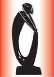 άγαλμα μαύρων Στοκ εικόνες με δικαίωμα ελεύθερης χρήσης
