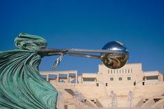 Άγαλμα μητερών φύση, εγκατάσταση τέχνης, σε Katara, Doha Κατάρ Στοκ Εικόνες