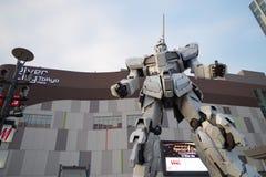 Άγαλμα μονοκέρων Gundam σε Odaiba Στοκ Εικόνα