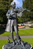Άγαλμα Μότσαρτ στους κήπους παρελάσεων, λουτρό στοκ φωτογραφία
