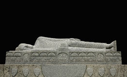 άγαλμα ξαπλώματος του Βούδα Στοκ Εικόνα