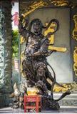 Άγαλμα πολεμιστών στο ναό αμαρτίας Wong Tai, Χονγκ Κονγκ στοκ εικόνες