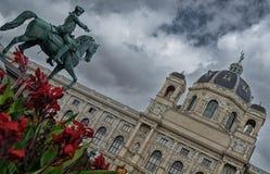 Άγαλμα πόλεων της Βιέννης Στοκ Εικόνα