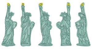 άγαλμα σκίτσων ελευθερ διανυσματική απεικόνιση