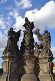Άγαλμα στη γέφυρα Charles Στοκ εικόνα με δικαίωμα ελεύθερης χρήσης