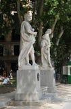 Άγαλμα στο πάρκο στο ανατολικό τετράγωνο Plaza de Oriente στη Μαδρίτη Στοκ Φωτογραφίες