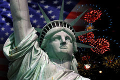 Άγαλμα της ελευθερίας στη Νέα Υόρκη Στοκ Φωτογραφίες