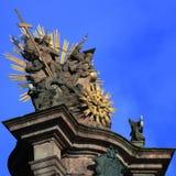 Άγαλμα της ιερής τριάδας, στήλη πανούκλας στοκ εικόνες