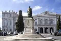 Άγαλμα της Λισσαβώνας του βασιλιά Carlos Ι Στοκ εικόνα με δικαίωμα ελεύθερης χρήσης