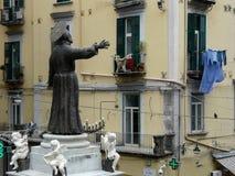 Άγαλμα της Νάπολης Ιταλία στο armeno SAN Gregorio Στοκ Εικόνες