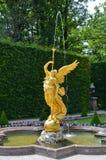 Άγαλμα της πηγής αγγέλου, Linderhof Γερμανία Στοκ εικόνα με δικαίωμα ελεύθερης χρήσης