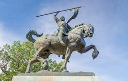 Άγαλμα της EL Cid σε Plaza de Παναμάς Στοκ Εικόνες