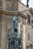 Άγαλμα του αυτοκράτορα Charles IV στην Πράγα, Δημοκρατία της Τσεχίας στοκ εικόνες