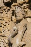 Άγαλμα του αυτοκράτορα Constantine στη Notre Dame, Παρίσι στοκ φωτογραφίες με δικαίωμα ελεύθερης χρήσης