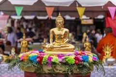 Άγαλμα του Βούδα νερού στοκ εικόνες