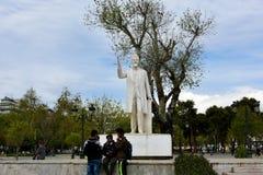 Άγαλμα του Ελευθερίου Βενιζέλος στο κέντρο της πόλης Thessal Στοκ φωτογραφίες με δικαίωμα ελεύθερης χρήσης