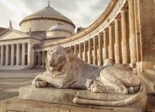 Άγαλμα του λιονταριού στη Νάπολη Στοκ Εικόνες