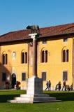 Άγαλμα του λύκου στο dei Miracoli πλατειών στην Πίζα στοκ φωτογραφία με δικαίωμα ελεύθερης χρήσης
