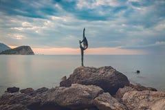 Άγαλμα του Μαυροβουνίου Budva Στοκ φωτογραφία με δικαίωμα ελεύθερης χρήσης