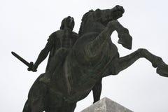 Άγαλμα του Μεγαλέξανδρου στην πόλη Θεσσαλονίκης στην Ελλάδα Στοκ Εικόνες