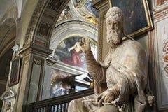Άγαλμα του παπά Gregory ΧΙΙΙ - Ρώμη στοκ φωτογραφία