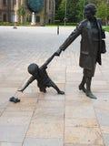 Άγαλμα του προηγούμενων πρωθυπουργού και του γιου στοκ φωτογραφία
