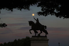 Άγαλμα του Σαιντ Λούις στο Forest Park Στοκ Εικόνα