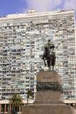 Άγαλμα του στρατηγού Artigas Montevideo, Ουρουγουάη Στοκ φωτογραφία με δικαίωμα ελεύθερης χρήσης