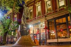 Άγαλμα του χλοώδους Jack σε Gastown στοκ φωτογραφία