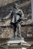 Άγαλμα του Όλιβερ Κρόμγουελ στο παλάτι του Γουέστμινστερ Στοκ εικόνες με δικαίωμα ελεύθερης χρήσης