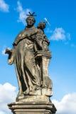 Άγαλμα του Anthony της Πάδοβας στη γέφυρα του Charles στην Πράγα Στοκ εικόνα με δικαίωμα ελεύθερης χρήσης
