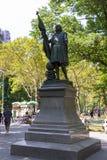 Άγαλμα του Central Park του Columbus, από τον ισπανικό γλύπτη Jeronimo Sunol στοκ φωτογραφίες
