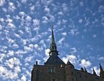 άγαλμα του Michel mont sain ST steepel Στοκ Εικόνα