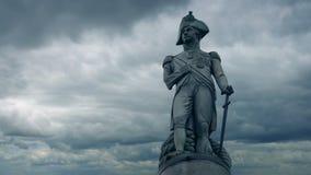 Άγαλμα του Nelson τη νεφελώδη ημέρα απόθεμα βίντεο