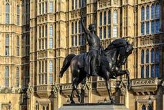 Άγαλμα του Richard Coeur de Lion Στοκ Φωτογραφίες