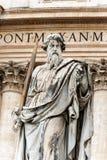 Άγαλμα του Saint-Paul ο απόστολος - πόλη του Βατικανού Ρώμη στοκ φωτογραφία με δικαίωμα ελεύθερης χρήσης