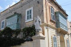 Άγαλμα του SAN Anton Abbati στη Rabat, Μάλτα Στοκ φωτογραφία με δικαίωμα ελεύθερης χρήσης
