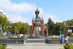 Άγαλμα του ST Catherine ο μάρτυρας σε Krasnodar Στοκ Φωτογραφίες