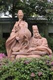 Άγαλμα του SU Dongpo και της συζύγου του στη δυτική λίμνη Huizhou στοκ φωτογραφίες με δικαίωμα ελεύθερης χρήσης